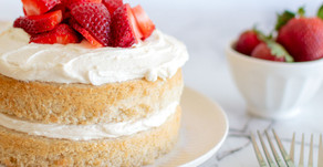 Eggless Strawberry Shortcake