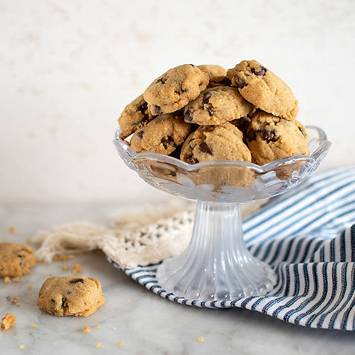 Bowl filled with Chocolate Chip Mini Cookies