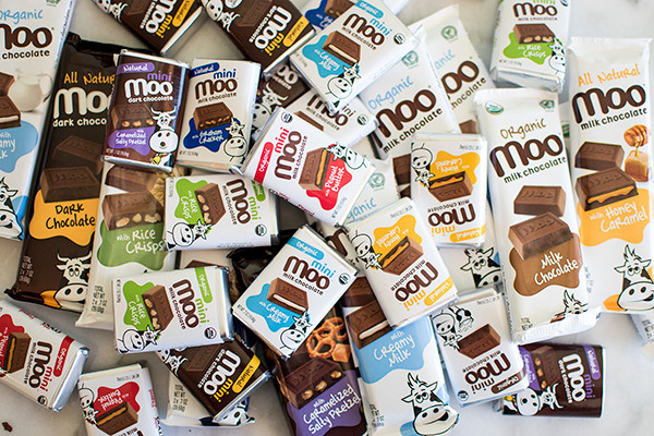 Lots of chocolates packs by Moo Chocolates