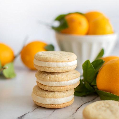 Lemon Rosemary Sandwich Cookies