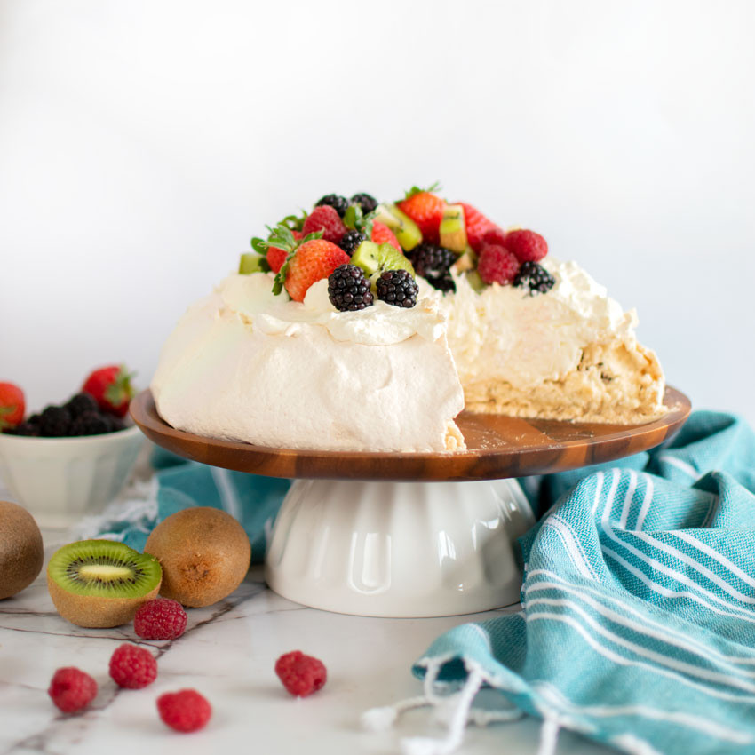 Easy and delicious Pavlova Birthday Cake, birthday pavlova cake, meringue, meringue cake, gluten free cake, high altitude meringue, gluten free birthday cake #pavlovacake #pavlova #cake #birthdaycake #glutenfree #glutenfreecake