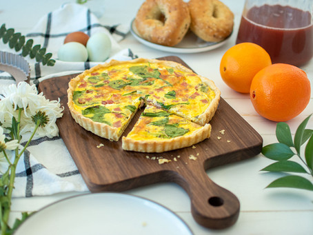 Spinach Ham & Cheese Quiche
