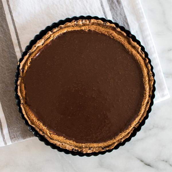Making of Milk Chocolate Peanut Butter Tart