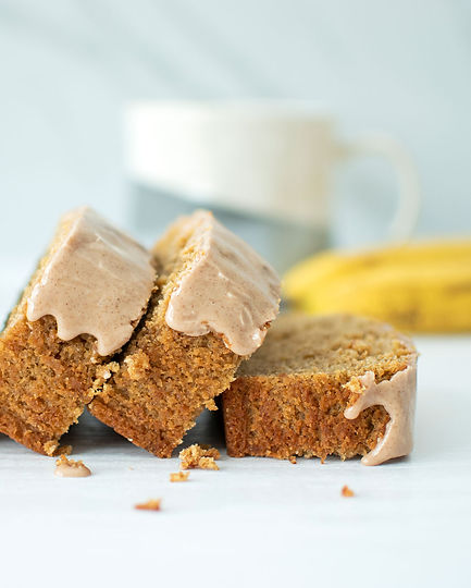 Banana Bread sliced, pieces falling onto each other ready to be eaten