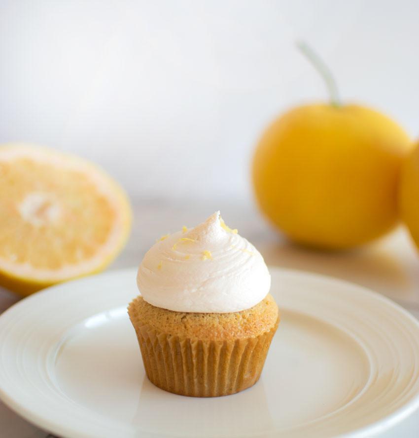 Spring cupcakes, organic cupcakes, vanilla cupcakes, cardamom cupcakes, grapefruit cupcakes, fresh grapefruits, pink grapefruit, high altitude cupcakes #grapefruit #cupcakes #cupcake #organic #highaltitudebaking #vanillacupcakes #cardamom