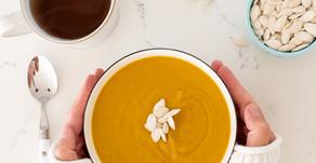 Vegan Roasted Cauliflower Pumpkin Soup