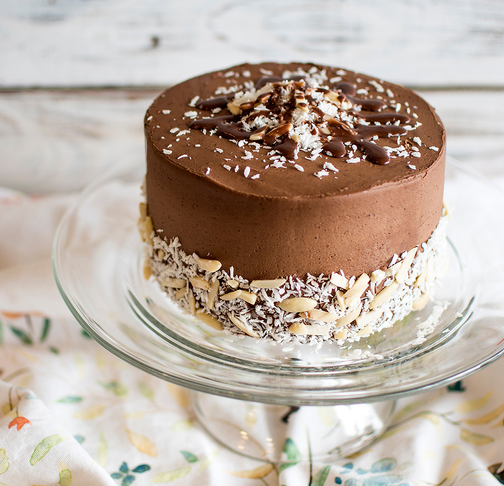 Chocolate Almond Frosting Cake