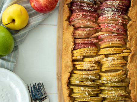 Rainbow Apple Galette