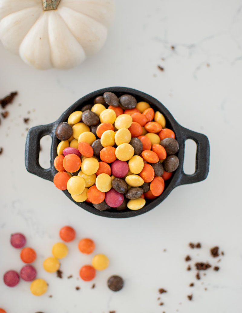 Sweet & Salty Candy Cookies, the perfect Halloween cookie recipe! Make these cookies filled with chocolate candy without artificial colors. The perfect Halloween dessert to add to your Halloween party #halloween #halloweencandy #organic #cookies #halloweencookies #glutenfreehalloween #highaltitudebking #organiccookies #candycookies #halloweendessert