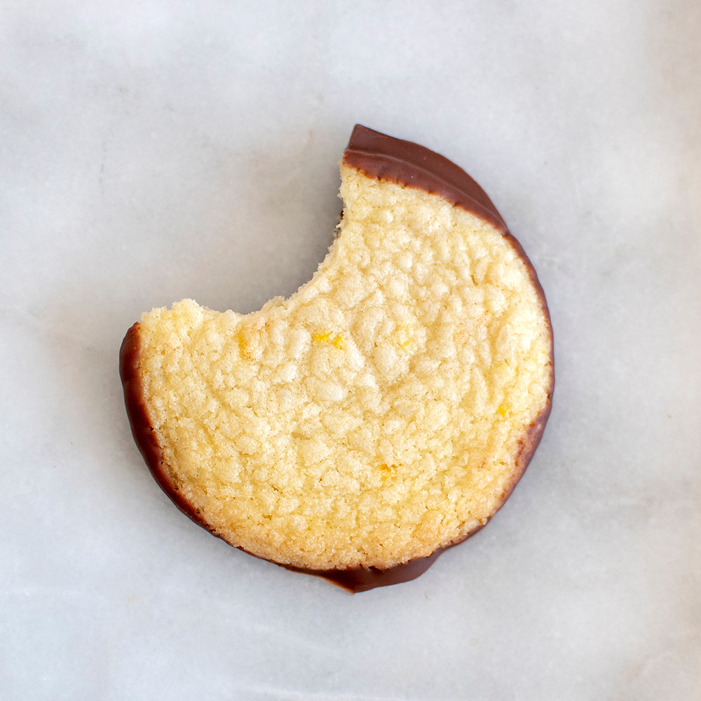 Bited Milk Chocolate Orange Shortbread Cookie