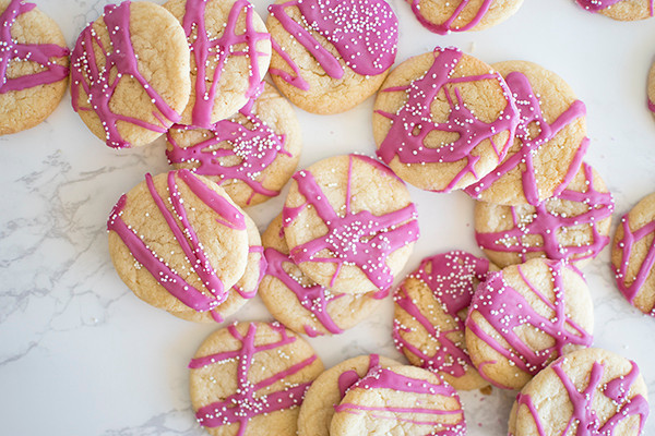 Top view of Circus Shortbread Cookies