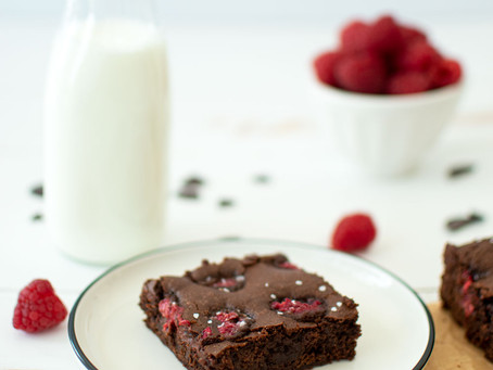 Olive Oil Raspberry Brownies