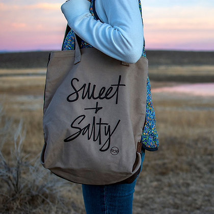 100% cotton canvas two tone tote bag