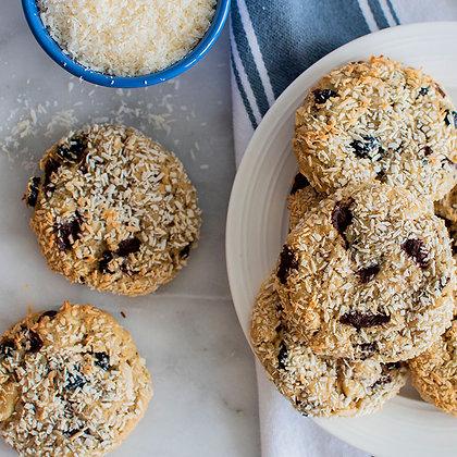 Vegan Gluten Free Kitchen Sink Cookies Served in a plate