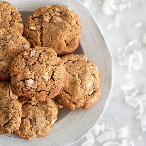 Paleo Coconut Almond Cookies Served in a plate