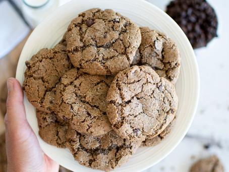 Sea Salt Espresso Chocolate Chip Cookies