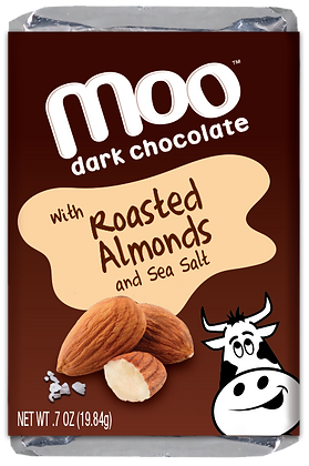 Natural Roasted Almond Dark Chocolate Mini Bars, Box/14