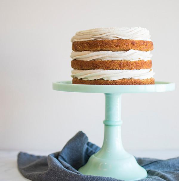 Side view of Honey Apple Carrot Cake