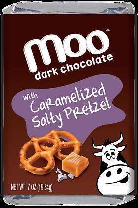 Natural Dark Chocolate Caramelized Salty Pretzel Mini Bars, Box/14