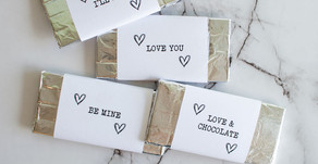 Valentine's Day Toasted Coconut Dark Chocolate Bars