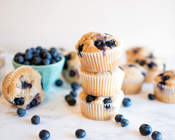 Tower of 3 Blueberry Muffins