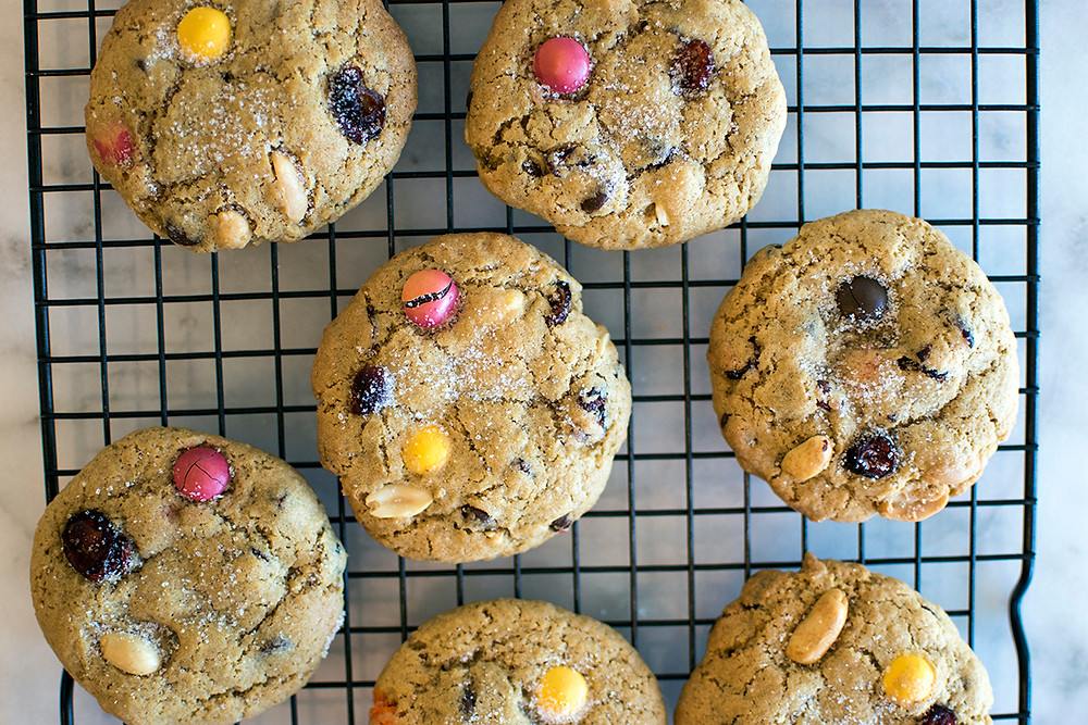 Top view of Trail Mix Cookies