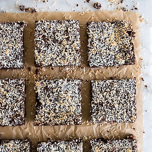 Brownies cut into squares