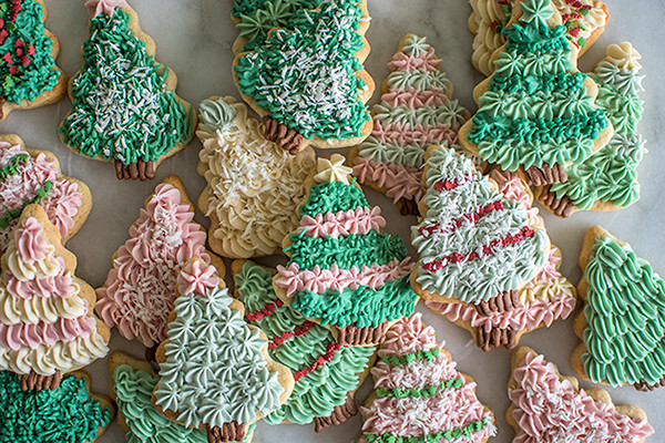 Lots of Tree Sugar Cookies
