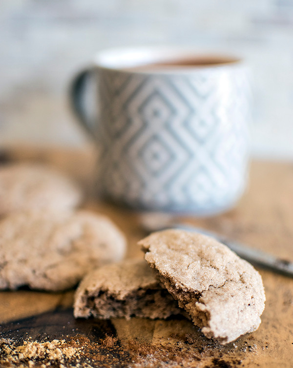 Pieces of Vegan Chai Spiced Cookies