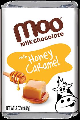 Natural Honey Caramel & Milk Chocolate Mini Bars, Box/14