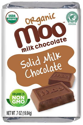 Organic Solid Milk Chocolate Mini Bars, Box/14