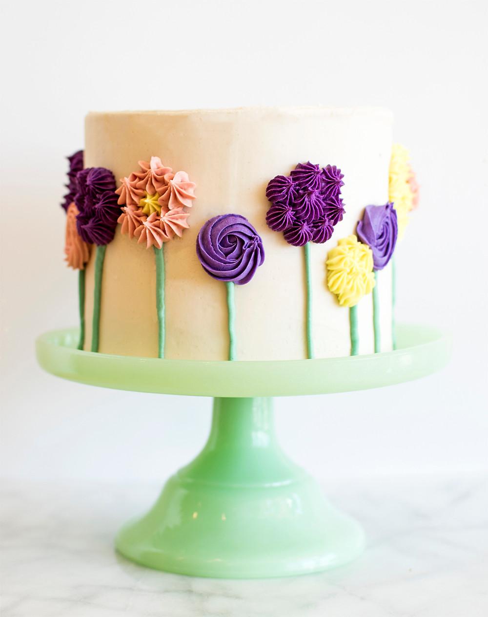 Making of Flower Cake
