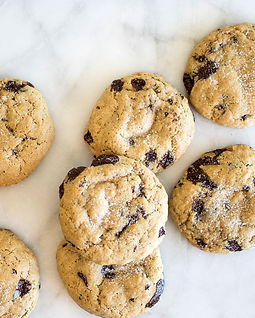 Vegan Sea Salt Dark Chocolate Chunk Cookies