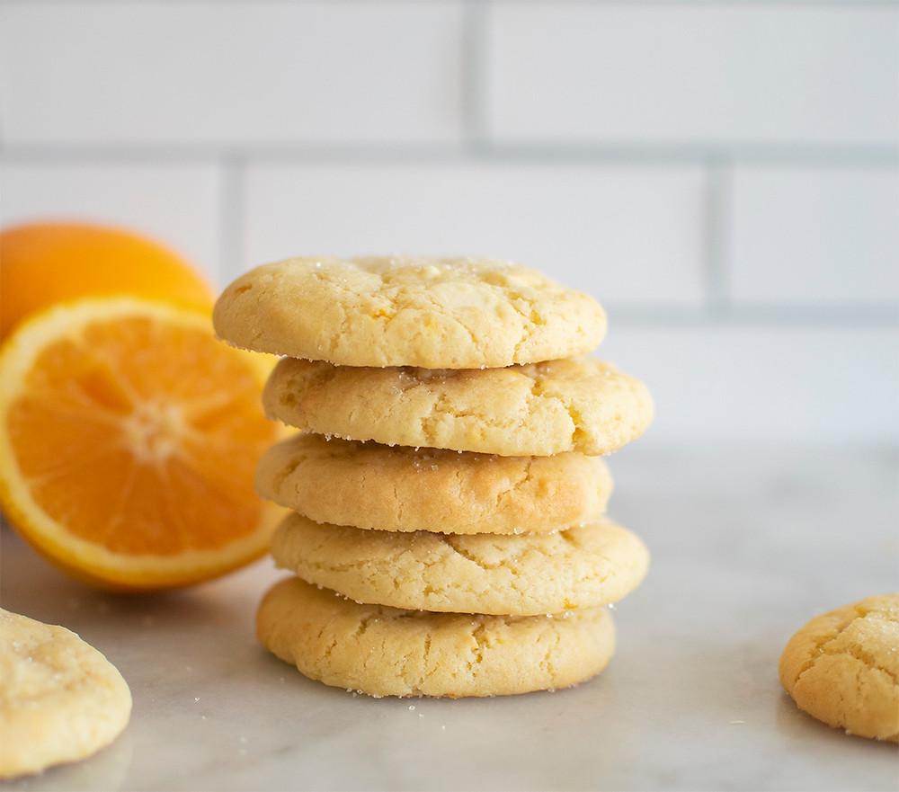 tower of Orange Creamsicle Cookies