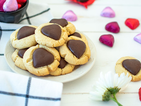 Chocolate Heart Thumbprint Cookies