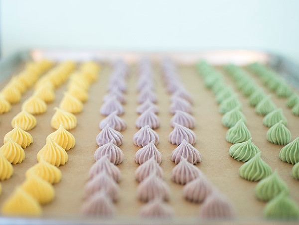Different colors of Pastel Cream Cheese Mints