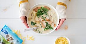 Creamy Sausage Potato & Kale Soup