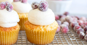Cranberry Orange Almond Cupcakes