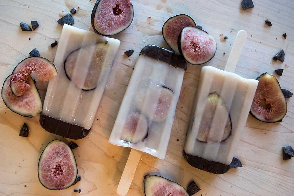 Coconut Fig Popsicles