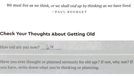 Q1: What do I think about growing old?