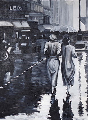 Rainy Day in Paris - 1920