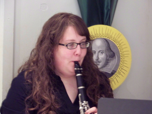 Stacey McCaffery provides pre-show incidental music in the Renaissance style for BLOODY FIRE UNCHASTE DESIRE
