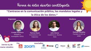 Apertura de datos: La discusión entre ética y la comunicación pública para una nuevaConstitución