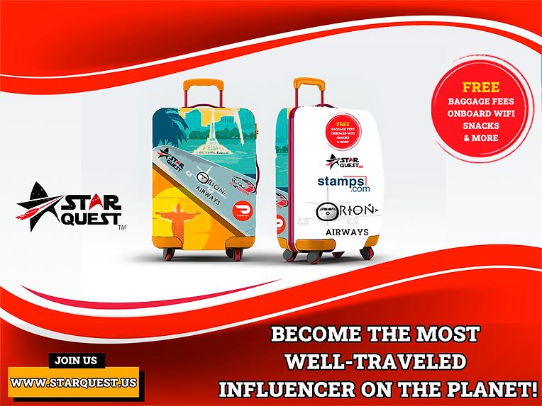 Star Quest - Luggage Cover Ad - Orion.pn