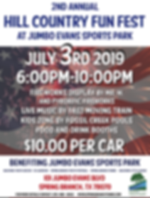 2019 JUMBO EVANS HILL COUNTRY FEST FLYER
