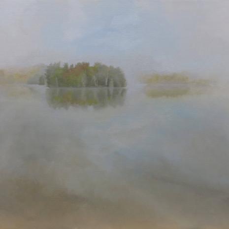 Morning Fog At Lake
