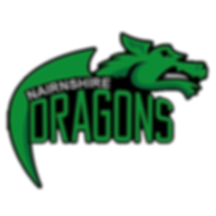 Nairnshire Dragon's logo by Kyle Robertson