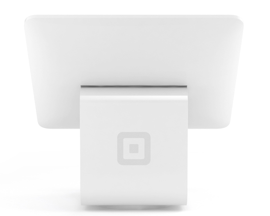 Square iPad Stand back