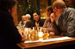 Enjoying dinner at Rockmill Tavern