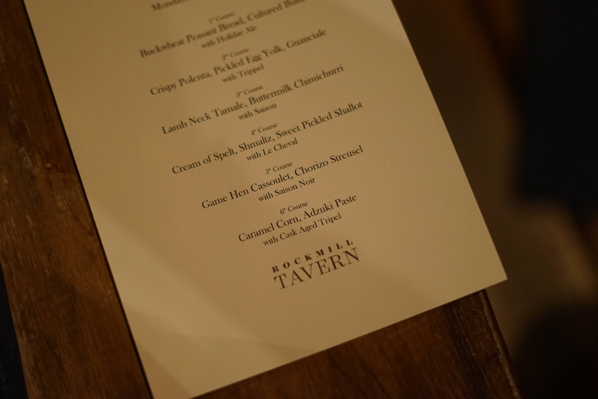 Snailblazer Award dinner menu
